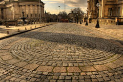 William Brown Street Liverpool. HDR Royalty Free Stock Photo
