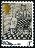 William Caxton UK Postage Stamp Royalty Free Stock Images