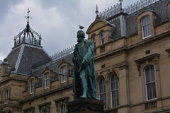 William Chambers Statue in Edinburgh, Scotland. William Chambers of Glenormiston or William Chambers was a Scottish publisher and politician, the brother (and stock image
