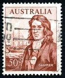 William Dampier Australian Postage Stamp foto de stock
