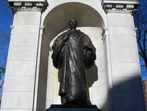 William Ellery Channing Statue; Jardim de Boston Public, Boston, Massachusetts, EUA Imagem de Stock