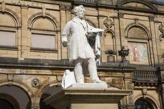 William Etty Statue y la York Art Gallery Imagen de archivo