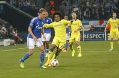 William FC Schalke v FC Chelsea 8eme Final Champion League Royalty Free Stock Photo