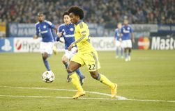 William FC Schalke v FC Chelsea 8eme Final Champion League Stock Images