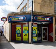 William Hill bookmaker Swindon royaltyfria foton