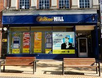 William Hill fasad royaltyfri foto