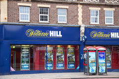 William hill. LONDON - SEPTEMBER 5TH: The exterior of a william hill betting shop on September the 5th, 2014, in London, England, UK. William Hill is the UK's Royalty Free Stock Photos