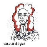 William III Anglia portret ilustracja wektor