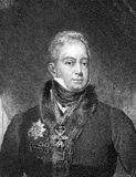 William IV of the United Kingdom. (1765-1837) on engraving from 1859. King of Great Britain and Ireland and of Hanover 1830-1837. Engraved by unknown artist and royalty free illustration