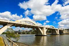 William Jolly Bridge Brisbane Royaltyfria Foton