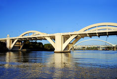 William Jolly Bridge Brisbane Australia. The William Jolly Bridge Brisbane Australia seen from the Brisbane River just after sunrise Royalty Free Stock Photography
