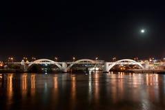 William Jolly Bridge Brisbane, Australia. Brisbane City - William Jolly Bridge at night - Queensland - Australia Royalty Free Stock Photos