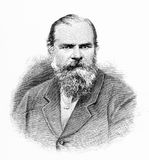 William Landsborough. Engraving of William Landsborough 21 February 1825 – 16 March 1886 first explorer to complete a North-to-South crossing of Australia. He Royalty Free Illustration