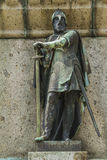 William long sword. The Dukes of Normandy on the pedestal of the statue of William the Conqueror in Falaise Normandy Stock Photos