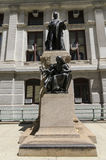 William McKinley Statue Outside von Philadelphias Rathaus Stockbilder