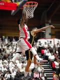 William Mosley in actie tijdens basketbalgelijke stock afbeeldingen