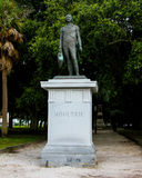William Moultrie statue in  White Point Gardens, Charleston, SC. Stock Photography