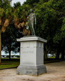 William Moultrie statue in  White Point Gardens, Charleston, SC. Stock Photos