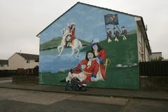 William of Orange mural, Shankill Road, Belfast Royalty Free Stock Images
