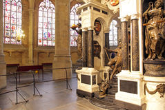 William of Orange - tomb in church at Delft,  Netherlands Stock Image