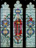 William Paley Stained Glass Window i Lincoln Cathedral royaltyfria foton
