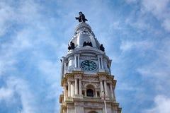 William Penn Statue sul comune di Philly Immagine Stock
