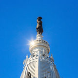 William Penn statue on a top of City Hall Royalty Free Stock Photos