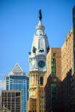 William Penn statue on a top of City Hall Philadelphia Royalty Free Stock Photo