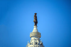 William Penn statue on a top of City Hall Philadelphia Royalty Free Stock Images