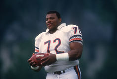 William Perry Chicago Bears. Former Chicago Bears superstar William The Refrigerator Perry #72. (image taken from color slide Royalty Free Stock Images