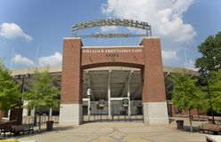 The William R. Frist Gate at Vanderbilt Stadium in Nashville, TN Stock Image