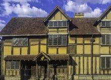 William Shakespeareâ-€™s Geburtsort - Henley Street, Stratford-nach-Avon, Warwickshire, Großbritannien lizenzfreie stockbilder