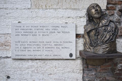 William Shakespeare στη Βερόνα Στοκ Εικόνες