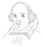 William Shakespeare illustration stock