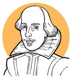 William Shakespeare stock de ilustración