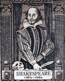 William Shakespeare Fotografie Stock Libere da Diritti