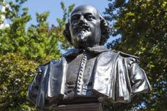 William Shakespeare Bust en Londres imagenes de archivo
