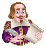 William Shakespeare Cartoon illustration libre de droits