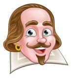 Shakespeare Elizabethan Cartoon Character. A William Shakespeare Elizabethan poet cartoon character Stock Image