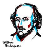 William Shakespeare Portrait royalty free illustration