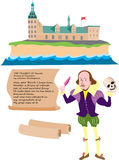 William Shakespeare-Hamlet illustration libre de droits