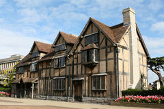 William Shakespeare's Birthplace. In Stratford upon Avon, England, UK Royalty Free Stock Photo