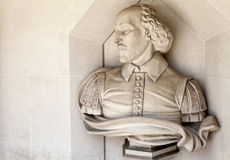William Shakespeare Sculpture em Londres fotografia de stock