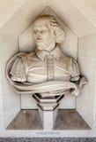 William Shakespeare Sculpture en Londres fotos de archivo