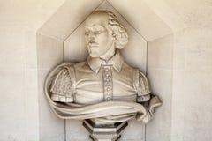 William Shakespeare Sculpture en Londres imagen de archivo