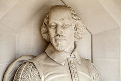 William Shakespeare Sculpture in London Royalty Free Stock Photo