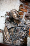 William Shakespeare staty Arkivfoton