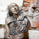 William Shakespeare staty royaltyfria bilder