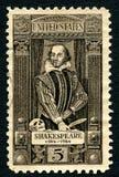 William Shakespeare USA portostämpel royaltyfria foton