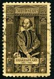 William Shakespeare usa znaczek pocztowy Zdjęcia Stock